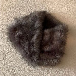 Accessories - Gray Faux Fur Infinity Scarf